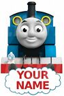 THOMAS THE TANK PERSONALISED STICKER WALL or IRON ON TRANSFER TSHIRT FABRICS