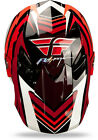 2014 Fly Racing Formula STRYPER Carbon Fiber HELMET Red & White Adult XL MOTO
