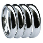 2mm 3mm 4mm 5mm 6mm 18ct 750 UK HM White Gold Court Comfort Wedding Bands Rings