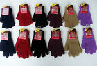 LADIES GLOVES FULL / HALF / FINGERLESS THERMAL SPANDEX ONE SIZE 6 COLOURS