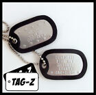 blue colored dog - Custom Embossed Military Dog Tags - Stainless Steel  - 42 Silencer Colors! Tag-Z