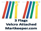 FLAG FOOTBALL BELT PACKAGE - 2 BELTS EACH WITH 3 VELCRO ATTACHED FLAGS