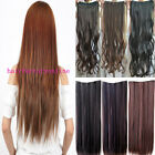 "uk seller 24"" or 26"" one piece clip in hair extensions real synthetic style hfo7"