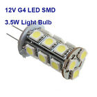 G4 LED 3.5W SMD 18x 5050 Cool White 4000K Camper Marine Cabinet Light Bulb Lamp