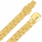 7mm Thick 14k Gold Filled Men's Nugget Link Chain Real Heavy Plated Necklace