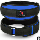 Weight Lifting Belt Neoprene Gym Excercise Fitness Back Supports Blue S/M - L/XL