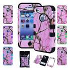 Rugged Matte Mossy Oak Real Tree Camo Hybrid Case Cover for iPhone 4-4s