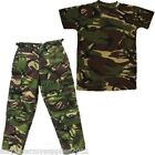 BOYS ARMY OUTFIT KIDS TROUSERS HAT T-SHIRT DRESS UP FANCY DRESS CAMO MILITARY