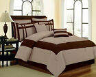8pc Luxury Bed in a Bag Comforter Set - Georgia - Taupe/Brown Pillows & Shams