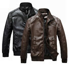 BP228 New Mens Warm winter Collar Faux Leather Jackets Coats