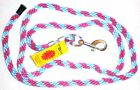 TBK STRONG NYLON 2 METRE LEADROPE - PINK / BLUE WITH SILVER CLIP