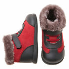 Little Blue Lamb Red Black Leather Shoes Boots Toddler Girl 6 to 10 New Box