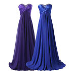Sweetheart Beaded Bridesmaid Evening Formal Party Ball Gown Wedding Prom Dress