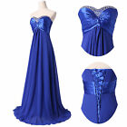 Evening Formal Party Ball Gown Prom Bridesmaid Long Dress UK SZ 6 8 10 12 14 16