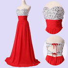 Bead Sexy Prom Gown Wedding Bridesmaid Formal Evening Party Cocktail Long Dress