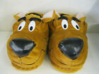 MENS FUN NOVELTY SLIP ON TAN SCOOBY DOO / DOG SLIPPERS
