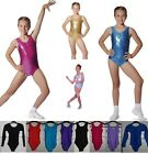 LEOTARD ROCH VALLEY GIRLS DANCE GYMNASTICS LEOTARDS METALLIC + NYLON LYCRA...