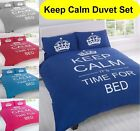 Keep Calm Luxurious Duvet Cover Quilt Set And Pillow Case Single And Double