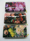 LADIES ELLA FLORAL PATENT ZIP AROUND PURSE/WALLET AVAILABLE IN 3 COLOURS 72552