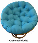Cotton Craft - Solid Color Papasan-Overstuffed Chair Cush...