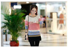 New Women's leisure loose Knitted medium-style thick round neck sweet sweater