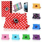 For Apple iPad 2 3 4 Mini 360 Degree Rotating PU Leather Case Smart Cover Stand