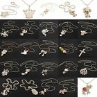 Multi Colors Rhinestone Animals Pendant Long Chain Sweater Necklace Peacock Gift