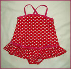 RED HEARTS  BABY GIRLS BEACH DRESS  Sz 1or 2 - GIRLS TOGS Toddler Swimwear - NEW