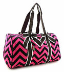 Chevron Zigzag Quilted Oversized Weekender Tote Duffle Bag Purse Pink +3Colors