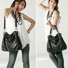 Ladies Womens Celebrity Designer Leather Style Satchel Tote Shopper Bag Handbag