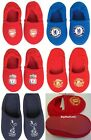 Football Club Team Childrens Boys Girls Slippers NEW