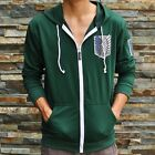 Green Attack on titan / shingeki no kyojin Investigation Hoodies Jackets Coats**