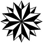 (C-6) TRIBAL COMPASS ROSE NAUTICAL STAR CAR BOAT BIKE WINDOW VINYL DECAL STICKER