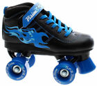 SFR Kid's Vision Boy's Junior Size Roller Derby Quad Skates - Black/Blue