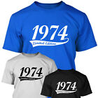 1974 LIMITED EDITION - Mens 40th Birthday T Shirt Gift