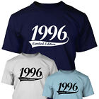 1996 LIMITED EDITION - Mens 18th Birthday T Shirt Gift