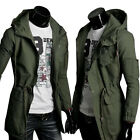 Hot Mens Slim Fit Sexy Top Designed Hoodies Military Jackets Coats Tops --UK NEW