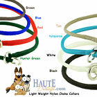 Midnight Pet Products Braided Round Nylon Slip / Choke Collar 1/4 inch