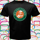New FRENCH OPEN Roland Garros Grand Slam Tennis Men's Black T-Shirt Size S-3XL