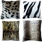 CUSHION COVERS ELEGANT ANIMAL PRINT FAUX FUR SO SOFT CUDDLY COVERS