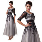 NEW Half Sleeve Beauty Charming Lace Floral Casual Formal Cocktail Evening Dress