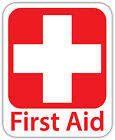First AID Vinyl Sticker Decal Sign 4 SIZES Red Cross Health Safety