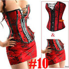 Professional Pure 3PCS Corset Bustier Top SEXY Lingerie Plus Size S-6X USA Stock