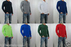 NWT Abercrombie & Fitch Men Muscle Fit Lake Placid Henley Sweatshirt Tee Shirt