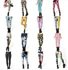 Sexy Women Stripes Leggings Stretchy Jeggings Pencil Tights Penci Pants Colorful