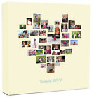 Personalised Photo Collage Canvas Family Tree Heart Shape Collage