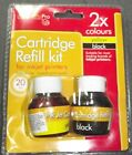 New Printer Pal Pro:2 x Cartridge Refill kit for Color/Black Inkjet:Home/Office
