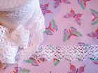 White 100% Cotton Cluny Lace Trim 37mm  Choice of lengths