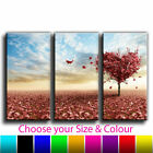 Love Heart Tree Canvas Art Landscape Print Triptych Treble Framed Picture 29
