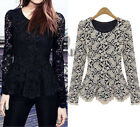 Sexy Vintage Lace Peplum Rockabilly Pin Up Retro Top Blouses AU SELLER T124